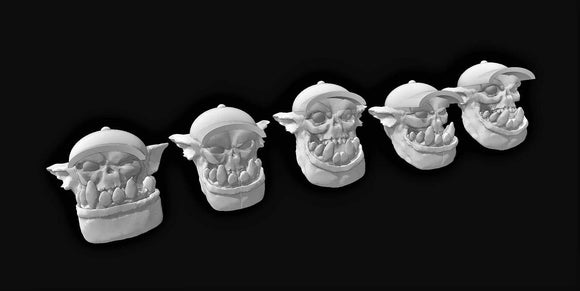 Broozer Hick Heads  x 5 - OTP Terrain & Miniatures Off The Print Gaming