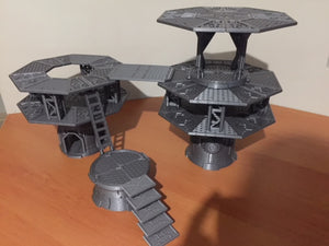 Octagon Tower City Starter Set-[40KTerrain]-[Fantasyterrain]-[3DPrintedTerrain]-[Wargaming]-[Tabletopgaming]-OTP Terrain Off The Print Gaming