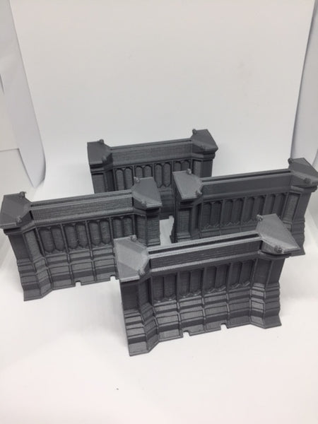 Combat Zone Wall  set of 4