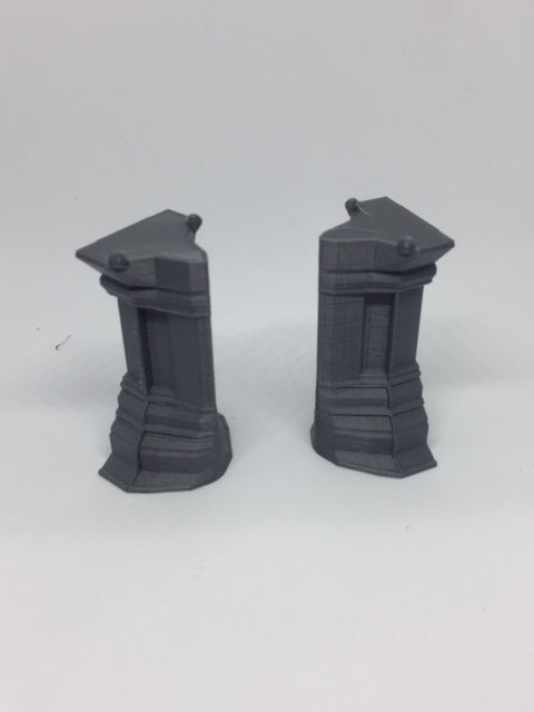 Combat Zone Wall end cap set of 2
