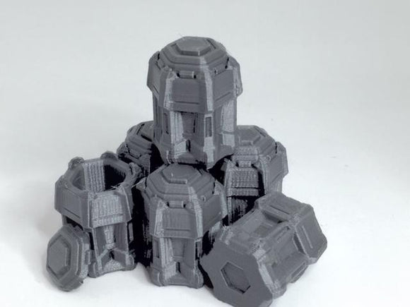 5 x Orbital Barrel Group A - OTP Terrain & Miniatures Off The Print Gaming