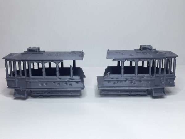 Tram Set Damaged & Undamaged