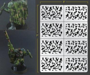 Infanty Traditional Camo Airbrush Stencil