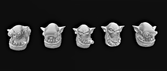 Jump Broozer Head Set x5-A - OTP Terrain & Miniatures Off The Print Gaming