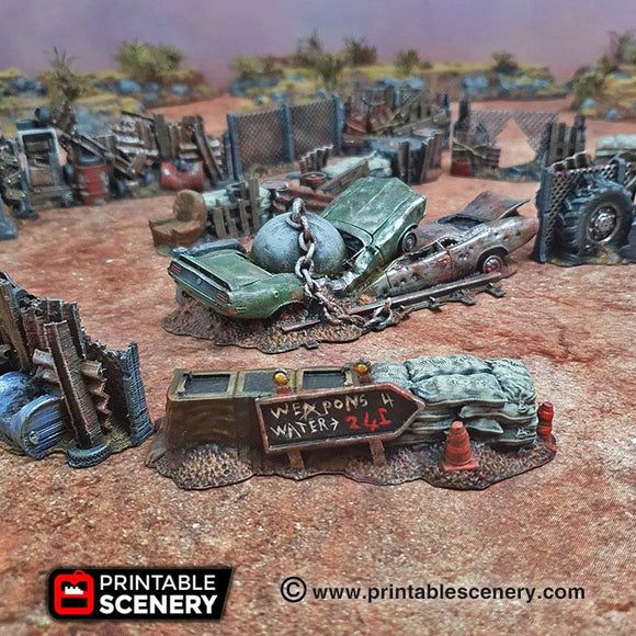 Junkfort Barricades And Fences - OTP Terrain & Miniatures Off The Print Gaming