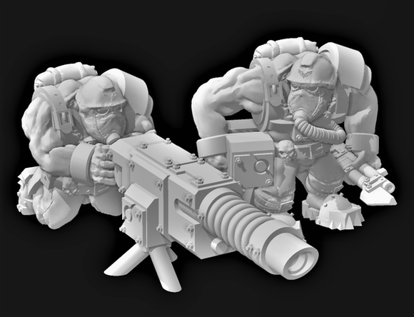 Broozer Guard Heavy Weapon Laz Team - OTP Terrain & Miniatures Off The Print Gaming