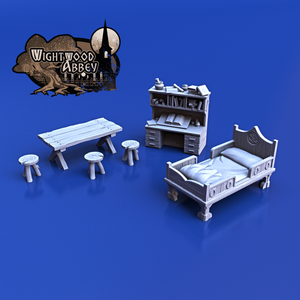 Wightwood Abbey Medieval Furniture Pack