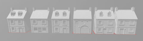 Small Houses Set Of 6