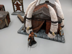 Barbarian Longhouse Set