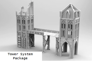 TOWER SYSTEM PACKAGE-[40KTerrain]-[Fantasyterrain]-[3DPrintedTerrain]-[Wargaming]-[Tabletopgaming]-OTP Terrain Off The Print Gaming