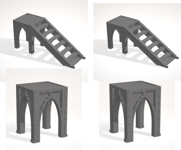 6mm 3x1 Gothic Stairs & Supports 2 of each