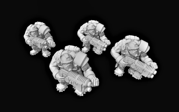 Broozer Guard Special Weapons Plasma Gun x4 - OTP Terrain & Miniatures Off The Print Gaming
