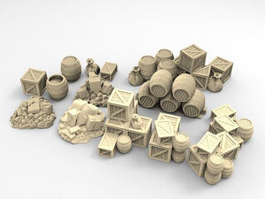 Ruined Rubble & Cargo Set