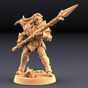 Fighters Guild Female with Spear