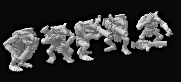 Riverting Goblins x 5 - OTP Terrain & Miniatures Off The Print Gaming