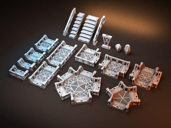 Orbital Outpost Walkways Medium Starter Set