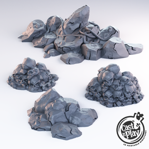 Rock & Skull Pile Scatter Set