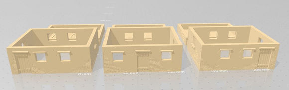 Set A Single Story Houses - 28mm or 1/56 - 20mm or 1/72