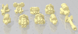 Gaslands Weapon Sets #2 - Set A