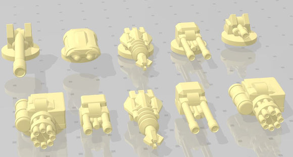 Gaslands Weapon Sets #1 - Set A