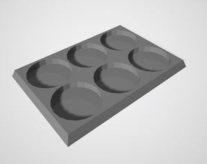 Set of 5 (25mm bases 2x3 6 Man Movement Tray)