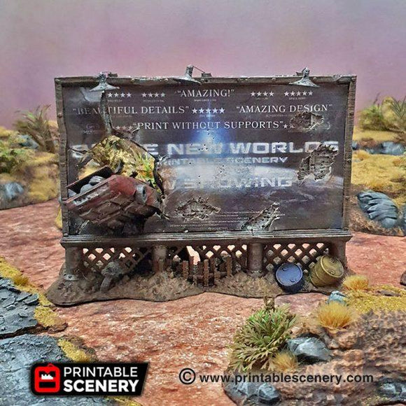 Billboard & Sign Sets - OTP Terrain & Miniatures Off The Print Gaming