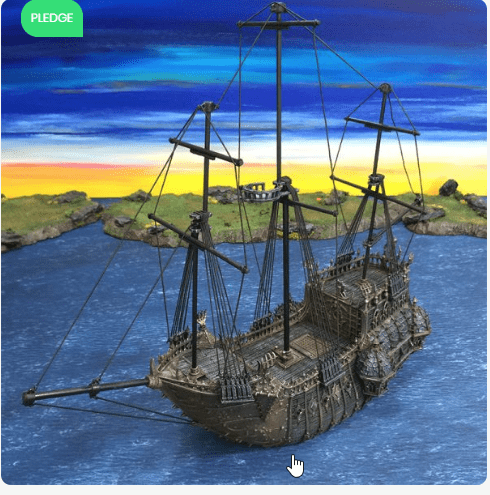 The Black Ship - OTP Terrain & Miniatures Off The Print Gaming