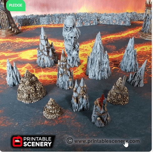 Tormented Scatter Set - OTP Terrain & Miniatures Off The Print Gaming