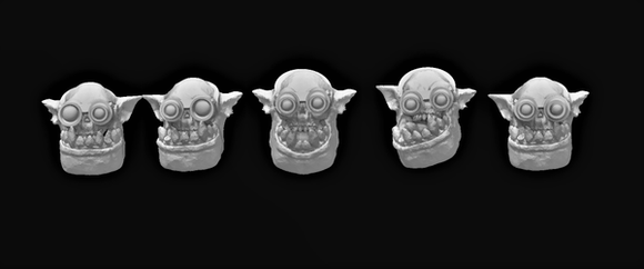 Sneaky Broozer Head Set x5-A - OTP Terrain & Miniatures Off The Print Gaming
