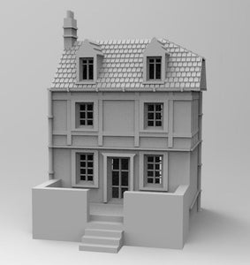 Sword  Beach Townhouse - 1/56 or 28mm - 1/72 or 20mm - 1/100 or 15mm