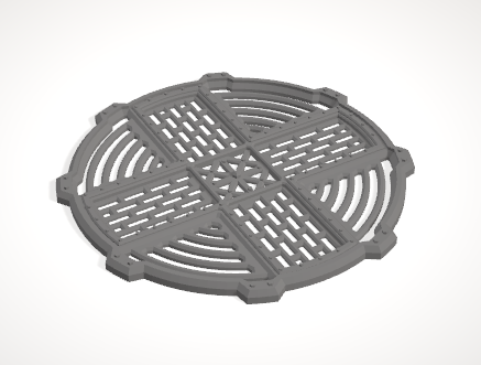 Cauldron Top Grate-[40KTerrain]-[Fantasyterrain]-[3DPrintedTerrain]-[Wargaming]-[Tabletopgaming]-OTP Terrain Off The Print Gaming