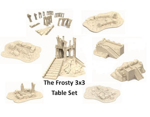 "The Frosty 3x3"" Table Set"