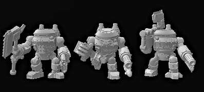 Tinbot Veterans x 3 - OTP Terrain & Miniatures Off The Print Gaming