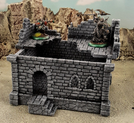 Ulvheim House Style B-[40KTerrain]-[Fantasyterrain]-[3DPrintedTerrain]-[Wargaming]-[Tabletopgaming]-OTP Terrain Off The Print Gaming