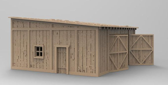 Hunsrück Wooden Shed - OTP Terrain & Miniatures Off The Print Gaming