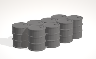 Barrels 3-[40KTerrain]-[Fantasyterrain]-[3DPrintedTerrain]-[Wargaming]-[Tabletopgaming]-OTP Terrain Off The Print Gaming