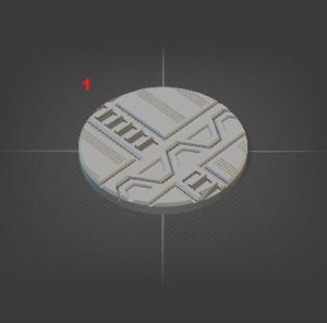 50mm Miniature Bases Set of 10-[40KTerrain]-[Fantasyterrain]-[3DPrintedTerrain]-[Wargaming]-[Tabletopgaming]-OTP Terrain Off The Print Gaming