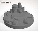 Set of 10 x 32mm Bases-[40KTerrain]-[Fantasyterrain]-[3DPrintedTerrain]-[Wargaming]-[Tabletopgaming]-OTP Terrain Off The Print Gaming