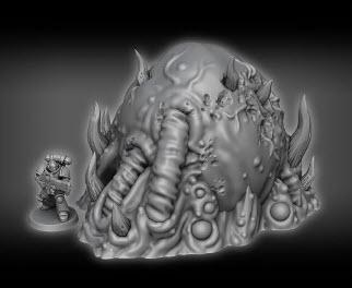 Bile Sac A1 - OTP Terrain & Miniatures Off The Print Gaming