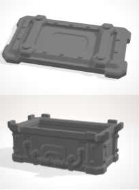 Chest Basic with lid-[40KTerrain]-[Fantasyterrain]-[3DPrintedTerrain]-[Wargaming]-[Tabletopgaming]-OTP Terrain Off The Print Gaming