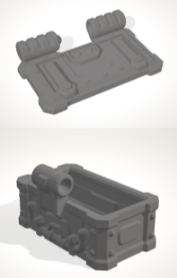 Chest with Hinged lid-[40KTerrain]-[Fantasyterrain]-[3DPrintedTerrain]-[Wargaming]-[Tabletopgaming]-OTP Terrain Off The Print Gaming
