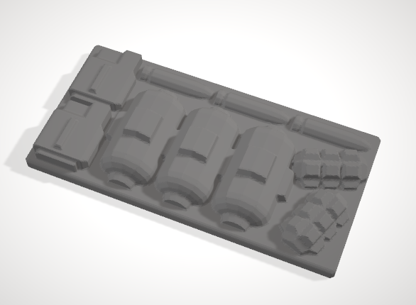 Set of 5 Chest with Hinged lid & 5 inserts-[40KTerrain]-[Fantasyterrain]-[3DPrintedTerrain]-[Wargaming]-[Tabletopgaming]-OTP Terrain Off The Print Gaming