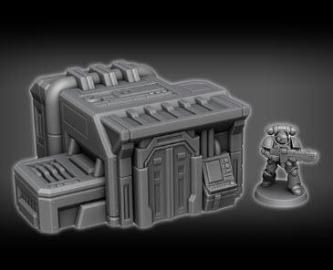 Control Station A2 - OTP Terrain & Miniatures Off The Print Gaming