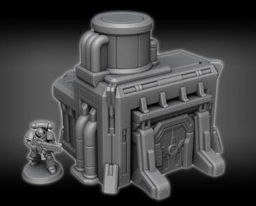 Control Station D1 - OTP Terrain & Miniatures Off The Print Gaming