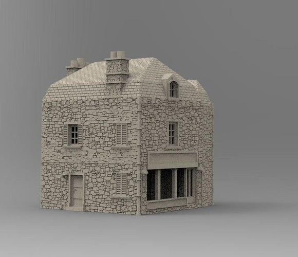 Corner Shop (today Musée de Liberation) - OTP Terrain & Miniatures Off The Print Gaming