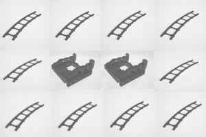 6mm Curved Track & Buffer Stop Set