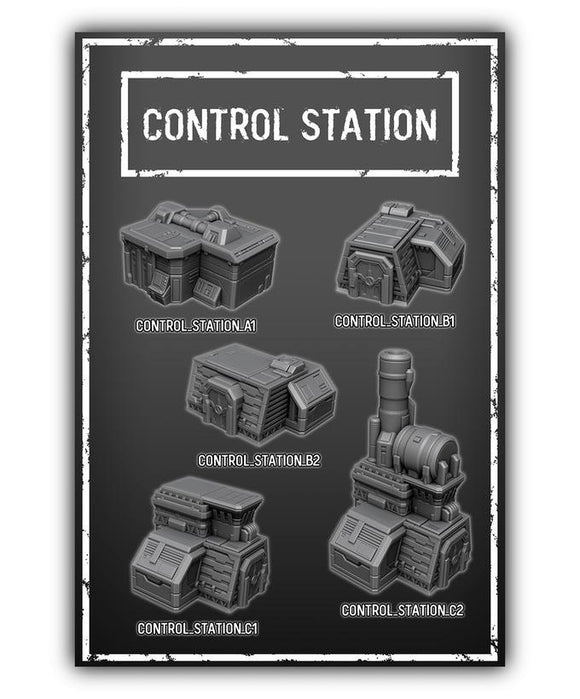 Control Station Set Of 5 - OTP Terrain & Miniatures Off The Print Gaming