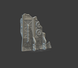 Damaged War Wall Set Of 3 Left, Center & Right-[40KTerrain]-[Fantasyterrain]-[3DPrintedTerrain]-[Wargaming]-[Tabletopgaming]-OTP Terrain Off The Print Gaming