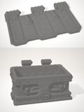 Set of 10 x Dumpster with hinged lid & 10 x inserts-[40KTerrain]-[Fantasyterrain]-[3DPrintedTerrain]-[Wargaming]-[Tabletopgaming]-OTP Terrain Off The Print Gaming