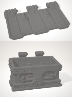 Set of 5 x Dumpster with hinged lid & 5 x inserts-[40KTerrain]-[Fantasyterrain]-[3DPrintedTerrain]-[Wargaming]-[Tabletopgaming]-OTP Terrain Off The Print Gaming